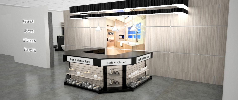 Plumbing Showroom Modular Counter