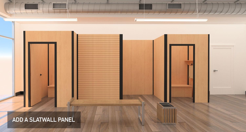 Temporary modular display system, slatwall