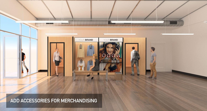 Temporary modular display system, merchandising