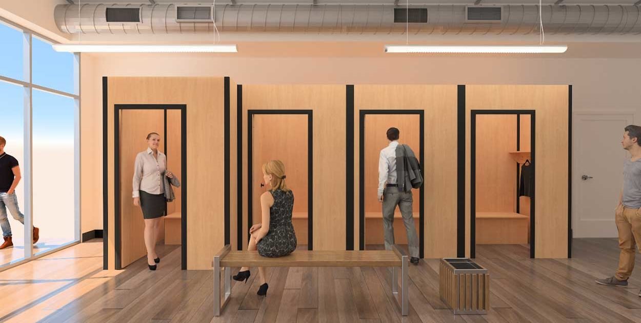 Modular Temporary Fitting Rooms