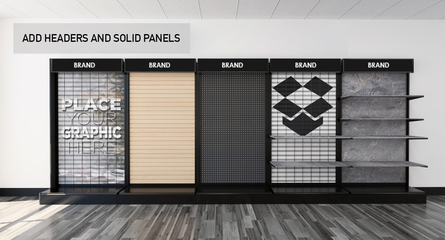 Retail Store Gondola Wall Modular Product Displays