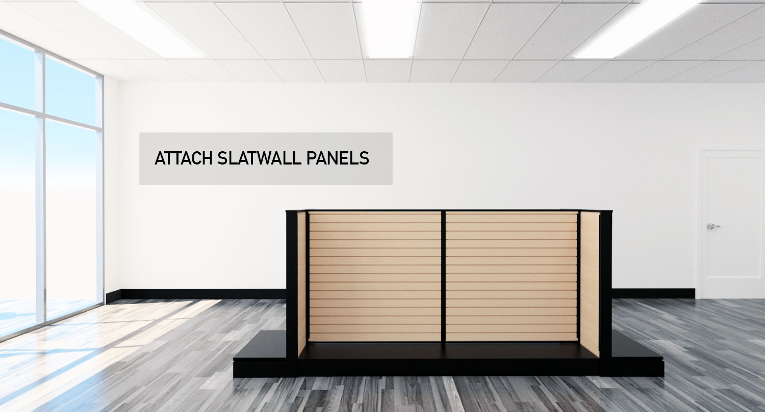Retail Store Gondola Floor and Wall Modular Product Displays Slatwall Panels